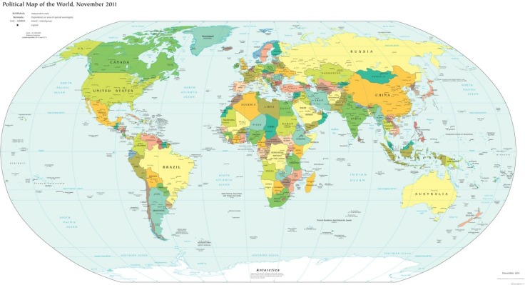 Lies Your World Map Told You Ways Youre Being Misled - World political map 2014