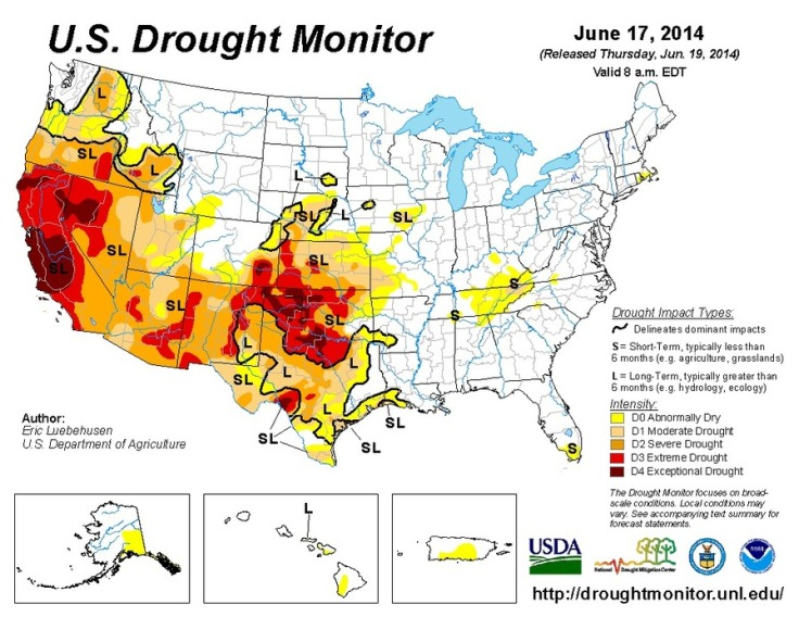 Environment Depend Page GEOGRAPHY EDUCATION - Us department of agriculture california drought map history