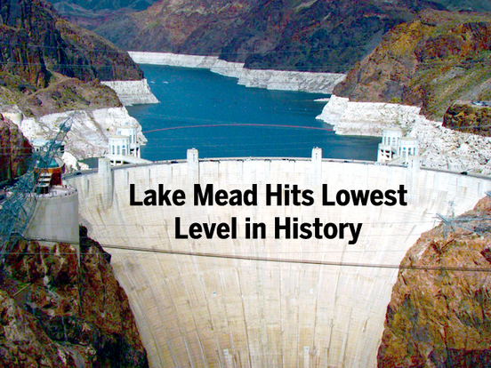 Drought Drains Lake Mead To Lowest Level Geography Education
