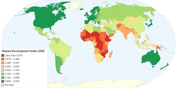 Human development index hdi geography education