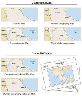 Customizable Maps of Mexico – GEOGRAPHY EDUCATION