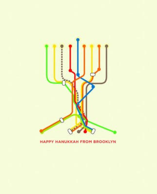 Hanukkah Subway Map Card.Transportation Geography And Religious Greetings Geography Education