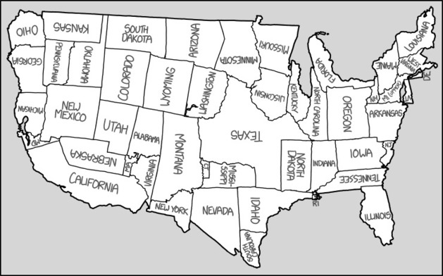 Xkcd united states map geography education xkcd united states map gumiabroncs Image collections