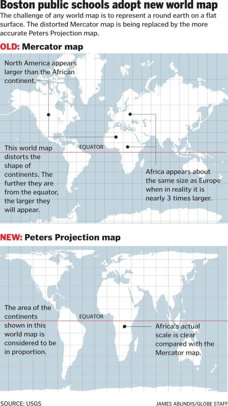 Map projections geography education boston schools ditch conventional world maps in favor of this one gumiabroncs Image collections